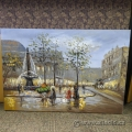 """""""Village Fountain"""" Painted Canvas Wall Art by Unknown Artist"""