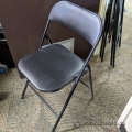 Black Metal Folding Chair w/ Padded Seat and Back