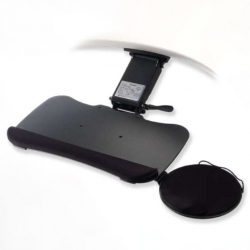 Black Under Desk Keyboard Tray with Mouse Pad (NIB)