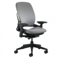 Steelcase Leap V2 Grey Adjustable Ergonomic Task Chair w Arms