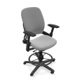 Steelcase Leap V2 Grey Ergonomic Drafting Stool Chair
