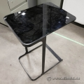 Allermuir Black Glass Top Side End Table