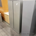 Steelcase 36x18x66 in Grey 2 Door Storage Cabinet, Locking