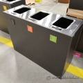 Busch Systems Aristata 3 Slot Industrial Recycle Garbage Can