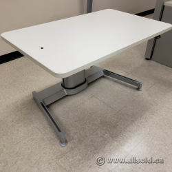 White Top Steelcase Airtouch Sit Stand Height Adjustable Desk
