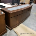 Dark Brown Reception Boardroom Credenza or Serving Station