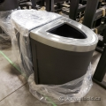 Busch System Chrome Top Business Garbage Can