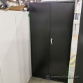 Global Black 2 Door Metal Storage Cabinet, Locking