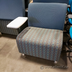 Patterned Office Reception Chair w/ Arm Table