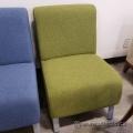 Green Reception Lobby Chair w/ Grey Legs