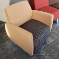 Krug Orange Lobby Reception Armchair w/ Pattern Seat