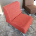 Red Lobby Reception Chair w/ Grey Legs