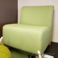 Green Reception Lobby Chair w/ Blonde Legs