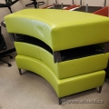 Green Office Seating Bench w/ Grey Legs