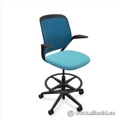 Steelcase Cobi Drafting Stool Chair w/ Mesh Back Arms