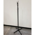 Black Coat Rack Tree w/ Chrome Hooks