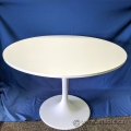 "41"" Round White Office Meeting Table"
