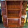 Mahogany Bookcase Set w/ Corner and Straight Bookshelves