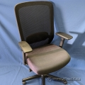 HON Basyx Black Mesh / Cloth High Back Rolling Task Chair