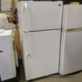White Haier Fridge with Top Load Freezer