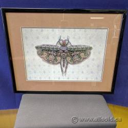 Flower Moth Wall Art, Unknown Artist