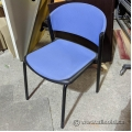 Blue Fabric Stacking Guest Chair