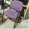 Purple Fabric Sleigh Guest Chair w/ Padded Arms