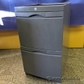 Grey 2 Drawer Under Desk Mounting Pedestal Cabinet
