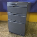 Grey 3 Drawer Under Desk Mounting Pedestal Cabinet