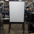 Teknion Black Rolling Mobile Whiteboard