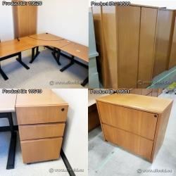 Executive Height Adjustable Peanut Office Suite