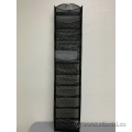 10 Pocket Black Mesh Hanging Wall File Magazine Display