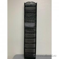 10 Pocket Black Mesh Hanging Wall File Magazine Display