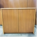 Simo Peanut 2 Door Wood Storage Cabinet w/ Adjustable Shelf
