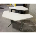 Steelcase Sit Stand Corner Desk White