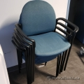 Blue Stacking Guest Chair w/ fixed Arms