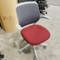 Steelcase Cobi Red Office Task Chair w/ Mesh Back