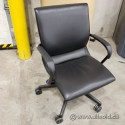 Leather Steelcase Protege Office Task Meeting Chair