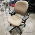 Steelcase Leap Tan Adjustable Ergonomic Task Chair w Arms