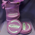 Lot of 40 Gliding Discs & Storage Bag