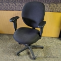 Hon Unanimous Black Fabric Adjustable Office Task Chair