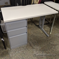 Steelcase Answer Straight Desk with Pedestal Cabinet