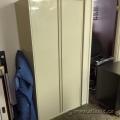 Tall Beige 2 Door Storage Cabinet, Locking