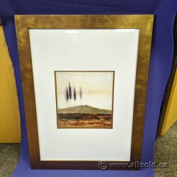 """24"""" x 32"""" Hanging Wall Art """"Trees"""" Unknown Artist"""