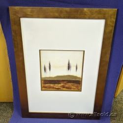 """24"""" x 32"""" Hanging Wall Art """"Trees"""" with Copper Frame"""