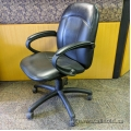 Mid-back Executive Leather Chair w/ fixed arms - B Grade