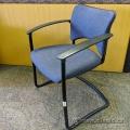 Teknion Blue Pattern Office Guest Chair