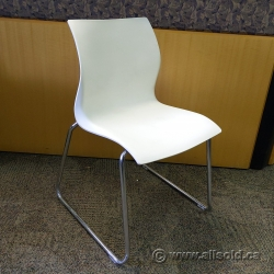 Nami by Teknion White Plastic Office Stacking Guest Chair