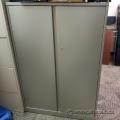 Steelcase 36x18x54 in Grey 2 Door Storage Cabinet, Locking