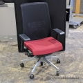 Haworth Very Task Chair w/ Mesh Back & Red Fabric Seat